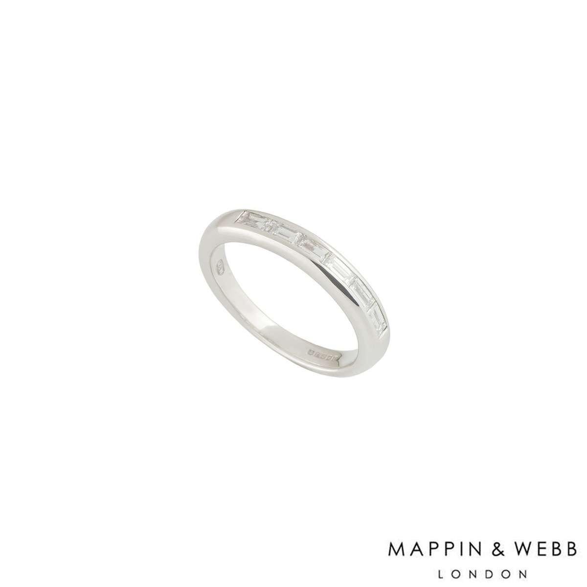 Mappin & Webb White Gold Diamond Half Eternity Ring 0.30ct H/VS